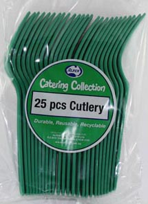 DISPOSABLE CUTLERY - GREEN FORKS PK 25