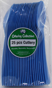 DISPOSABLE CUTLERY - BLUE SPOONS PK 25