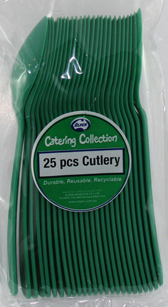 DISPOSABLE CUTLERY - GREEN SPOONS PK 25