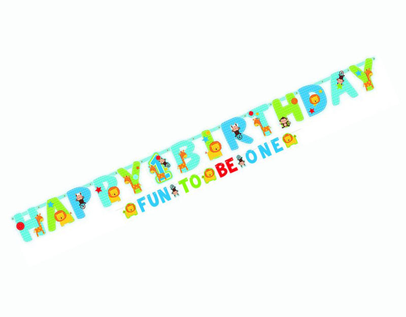 ONE WILD BOY DESIGN 1ST BIRTHDAY LETTER BANNER