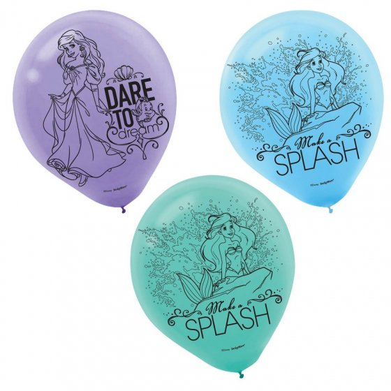 BALLOONS LATEX - ARIEL DREAM PACK OF 6