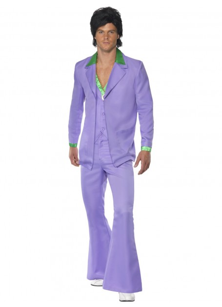 1970\'S MAN LAVENDER SUIT FANCY DRESS COSTUME - MEDIUM