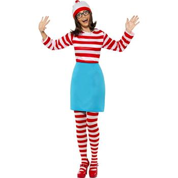 WHERE'S WALLY/WENDA LADIES COSTUME SIZE - SMALL