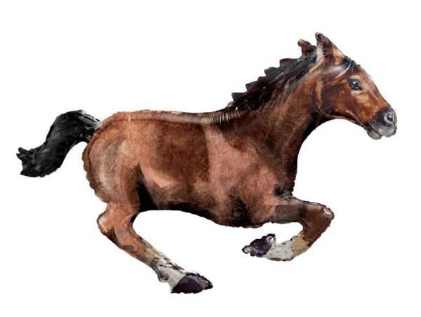 FOIL SUPER SHAPE BALLOON - GALLOPING BROWN HORSE