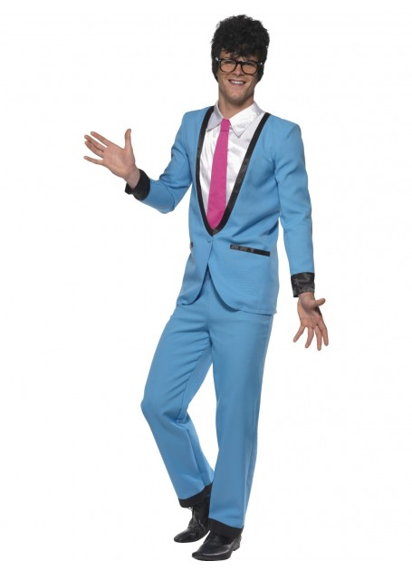 1950'S TEDDY BOY BLUE COSTUME - MEDIUM
