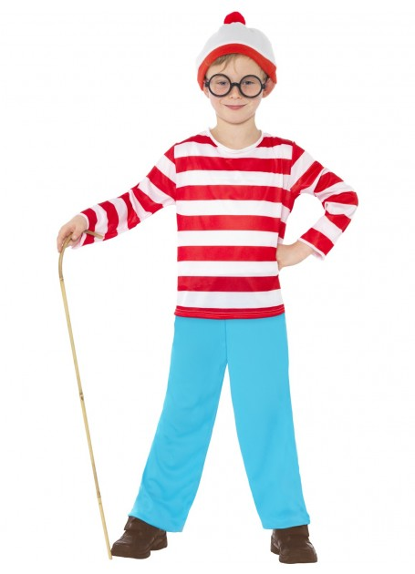 WHERE'S WALLY CHILD COSTUME FOR BOYS