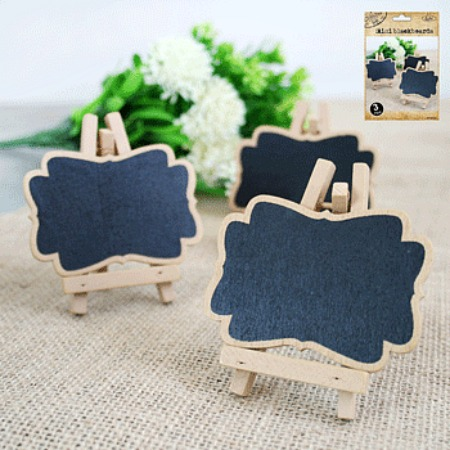 NATURAL KRAFT MINI CHALKBOARDS - PACK OF 3