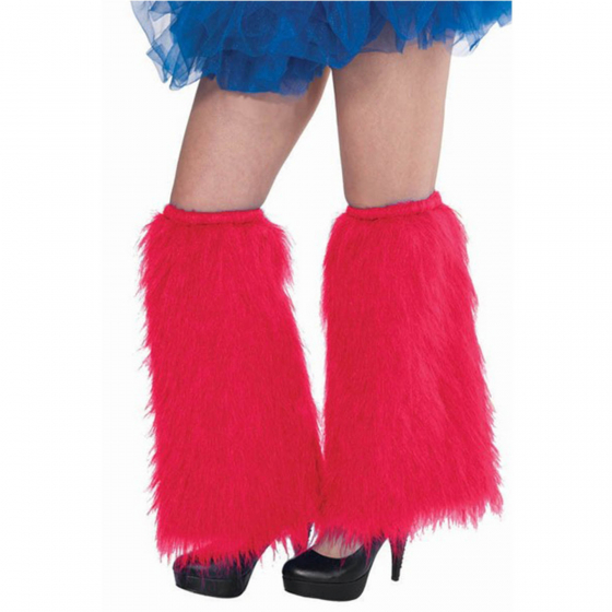 1980'S PLUSH & FLUFFY RED LEG WARMERS