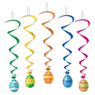 EASTER EGG WHIRLS PACK OF 5