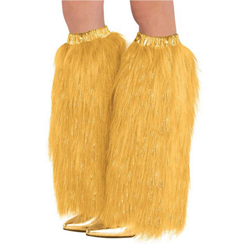 1980'S PLUSH & FLUFFY GOLD LEG WARMERS