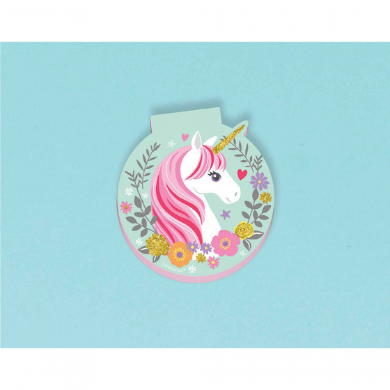 PARTY FAVOURS - MAGICAL UNICORN DIE CUT NOTE PADS PACK OF 12