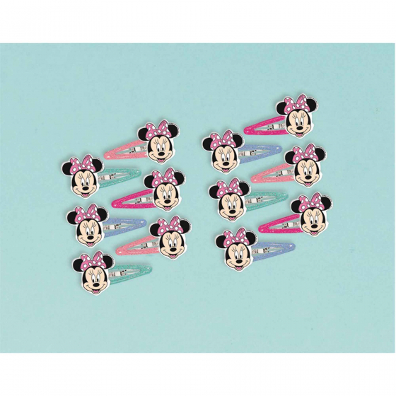 PARTY FAVOURS - MINNIE MOUSE HAIR CLIPS PACK OF 12
