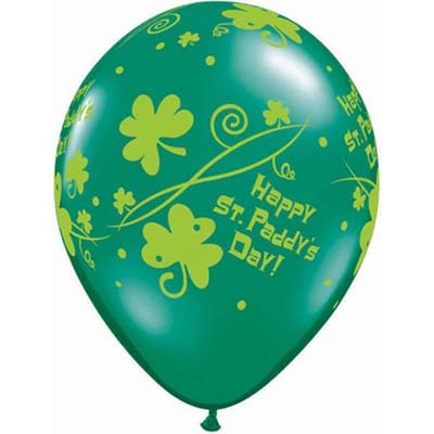 BALLOONS LATEX - ST PATRICKS DAY PACK 6