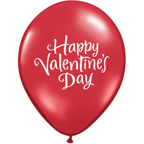 BALLOONS LATEX - HAPPY VALENTINES DAY PACK OF 25