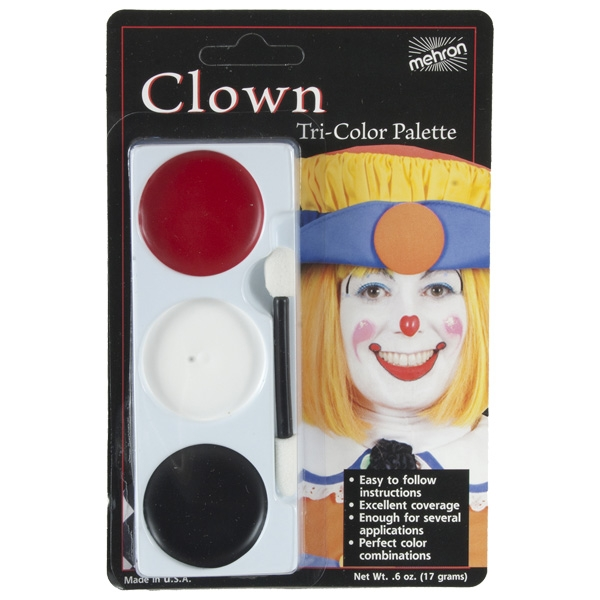 MEHRON TRI-COLOUR MAKEUP PALETTE - CLOWN