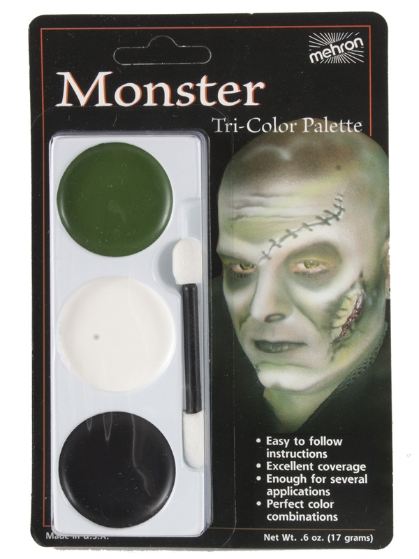 MEHRON TRI-COLOUR MAKEUP PALETTE - MONSTER