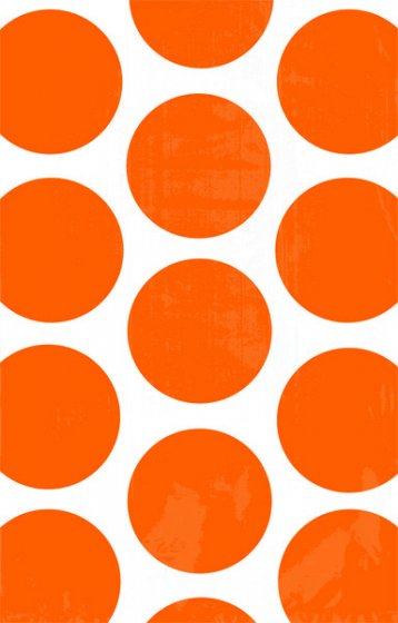 PAPER LOOT BAGS - ORANGE POLKA DOT - PACK OF 10