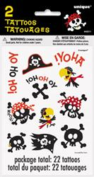 PIRATE TATTOOS - PACK OF 22