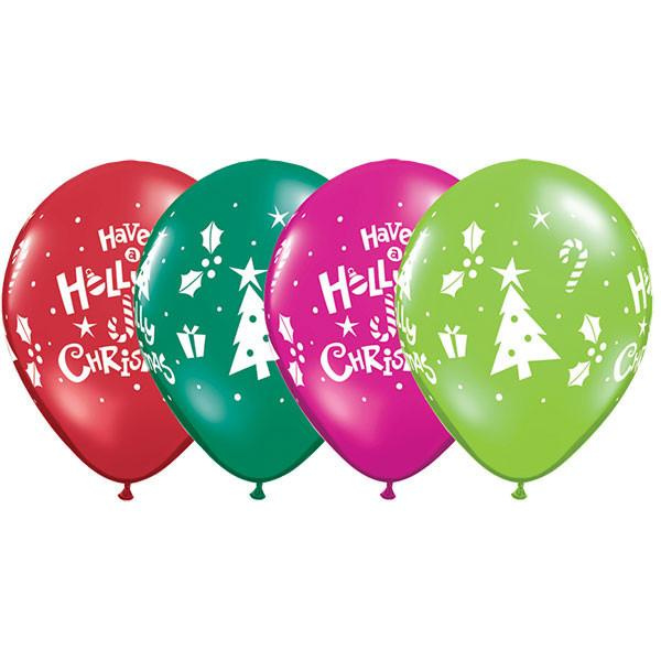 BALLOONS LATEX - HOLLY JOLLY CHRISTMAS ASSORTMENT PACK 25