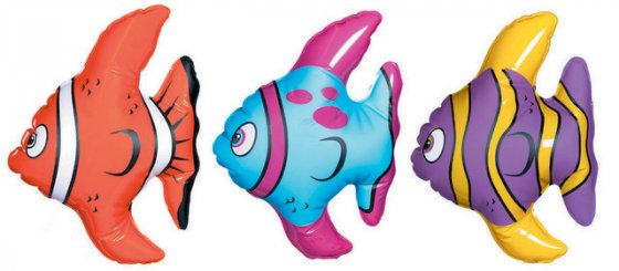INFLATABLE FISH SMALL - PACK OF 3