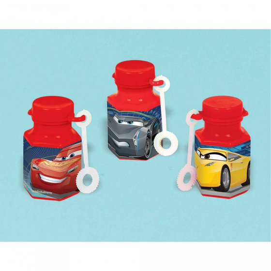 CARS 3 - PARTY FAVOURS - MINI BUBBLES PACK OF 12