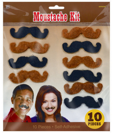 MOUSTACHES - WESTERN PACK OF 10