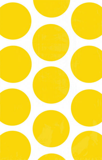 PAPER LOOT BAGS - YELLOW POLKA DOT - PACK OF 10