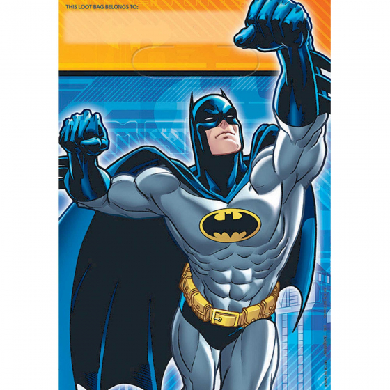 BATMAN PARTY LOOT BAGS - PACK OF 8