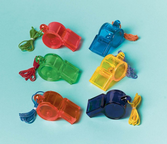 PARTY FAVOURS - SPORT WHISTLES - PACK OF 12