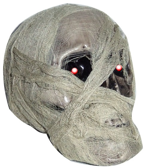 MUMMIFIED LIGHT UP SKULL