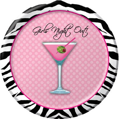 GIRLS NIGHT OUT PARTY PLATES - PACK OF 8
