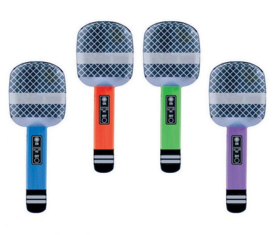 INFLATABLE MICROPHONE - PACK OF 4