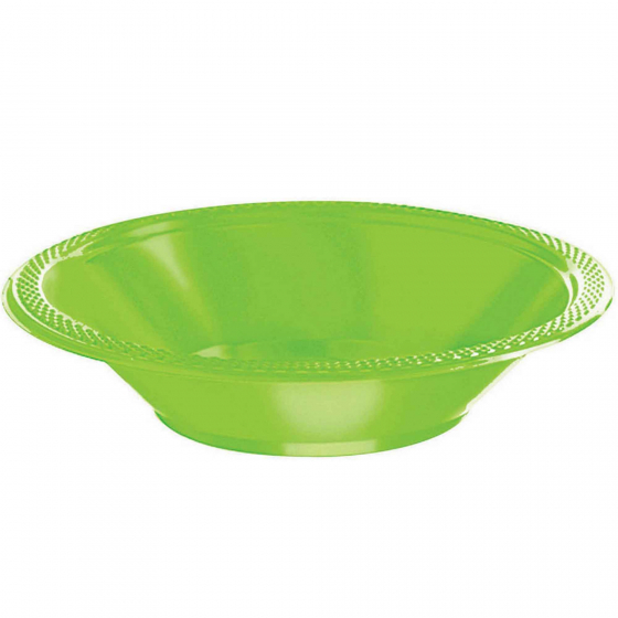 DISPOSABLE DESSERT OR SNACK BOWL LIME - PACK OF 25