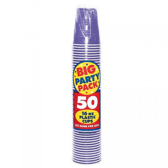 DISPOSABLE CUPS BULK - NEW PURPLE - PACK OF 50