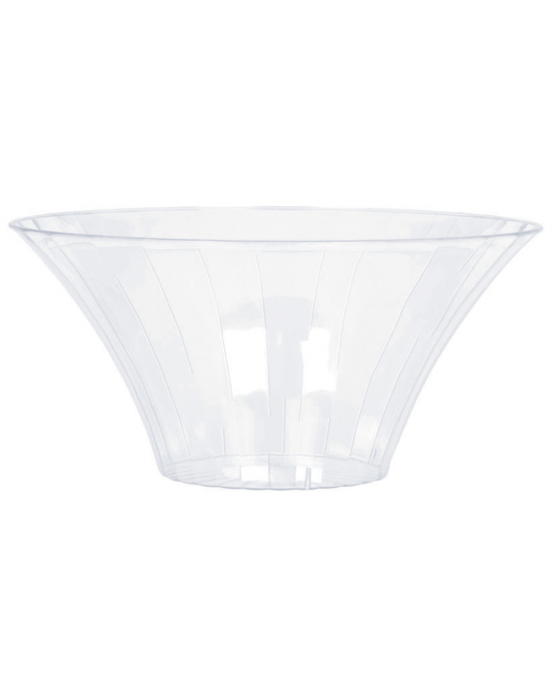 CLEAR PLASTIC FLARED BOWLS MEDIUM - 23CM