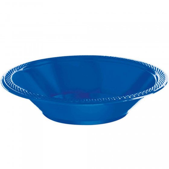 DISPOSABLE DESSERT OR SNACK BOWL BLUE - PACK OF 25