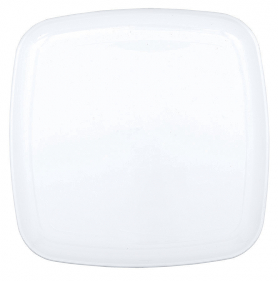 LARGE SQUARE DURABLE PLATTER - CLEAR