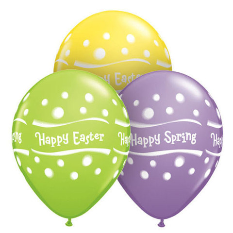 BALLOONS LATEX - HAPPY SPRING PACK OF 6
