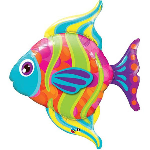 FOIL SUPER SHAPE BALLOON - BUTTERFLY FISH