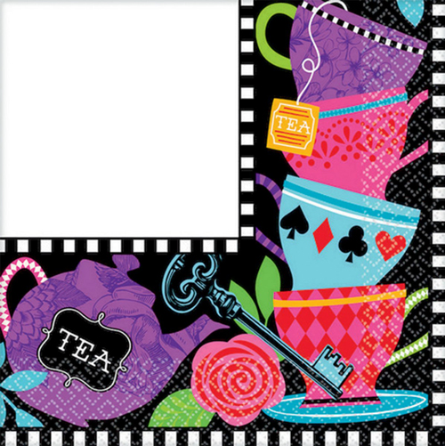MAD TEA TIME LUNCH NAPKINS - PACK OF 16