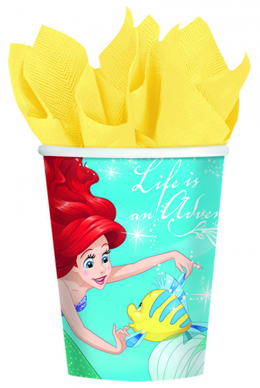 MERMAID ARIEL DREAM PARTY CUPS - PACK OF 8