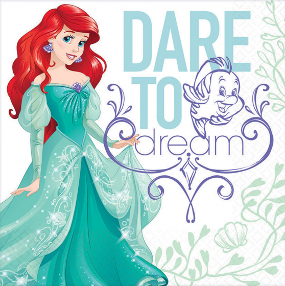 MERMAID ARIEL DREAM - LUNCH NAPKINS PACK OF 16