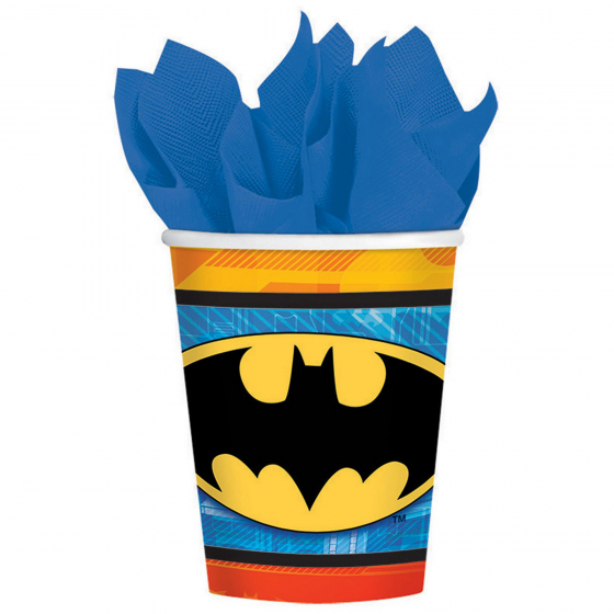 BATMAN PARTY CUPS - PACK 8