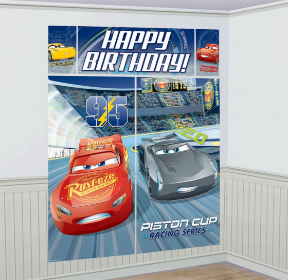 CARS 3 - HAPPPY BIRTHDAY SCENE SETTER