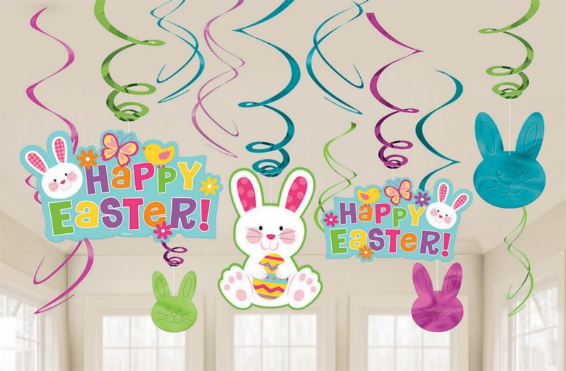 HAPPY EASTER HANGING SWIRLS VALUE PACK