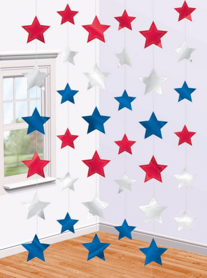 STARS ON STRINGS - FRENCH THEMED RED, WHITE & BLUE