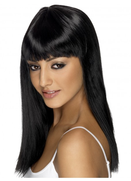 BLACK LONG MYSTIQUE GLAMOUR WIG