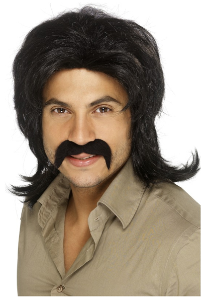 COOL 70'S GUY BLACK WIG