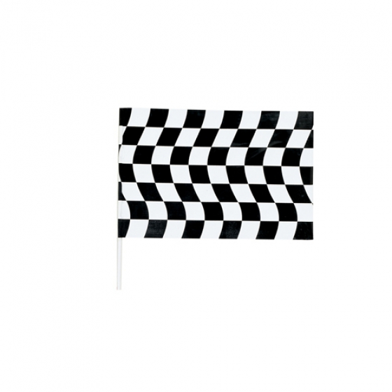 CHECKERED FLAG LARGE SIZE ON POLE