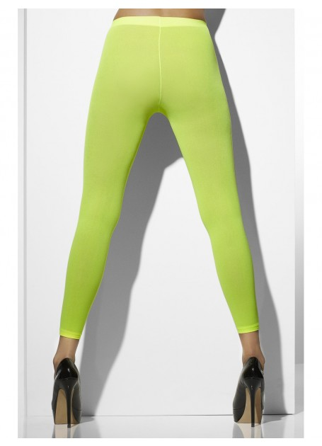 STOCKINGS/TIGHTS - NEON GREEN OPAQUE FOOTLESS TIGHTS